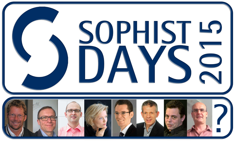 SOPHIST DAYS 2015 Logo mit Speakern Kopie