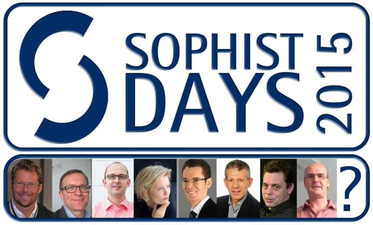 SOPHIST DAYS 2015 Logo mit Speakern Kopie
